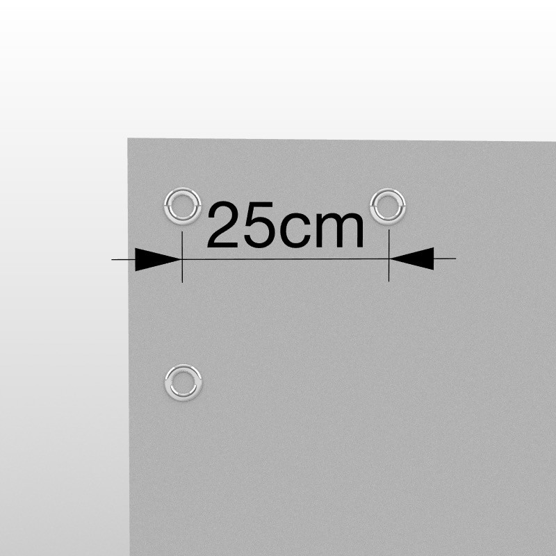 Occhielli ogni 25cm